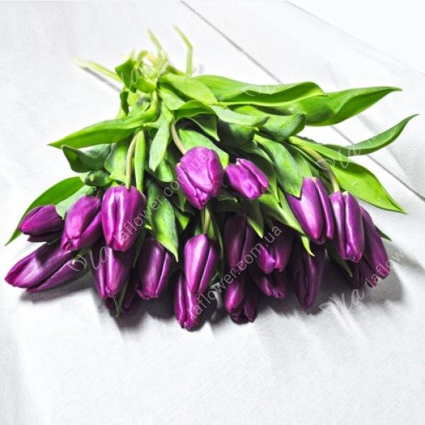Хочу букет из фиолетовых тюльпанов и чтоб, цветов